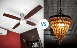 ceiling fan vs chandelier