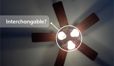are ceiling fan light kits interchangeable