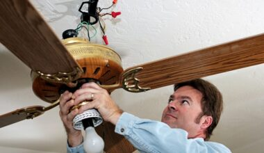 take down a ceiling fan