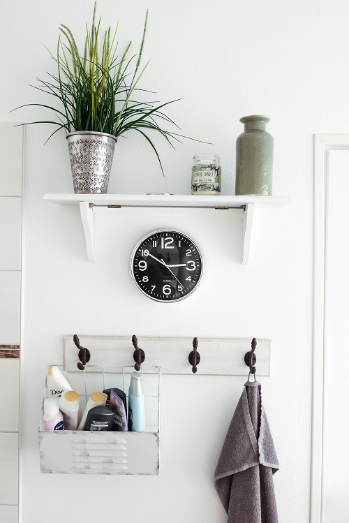 shelf over clock